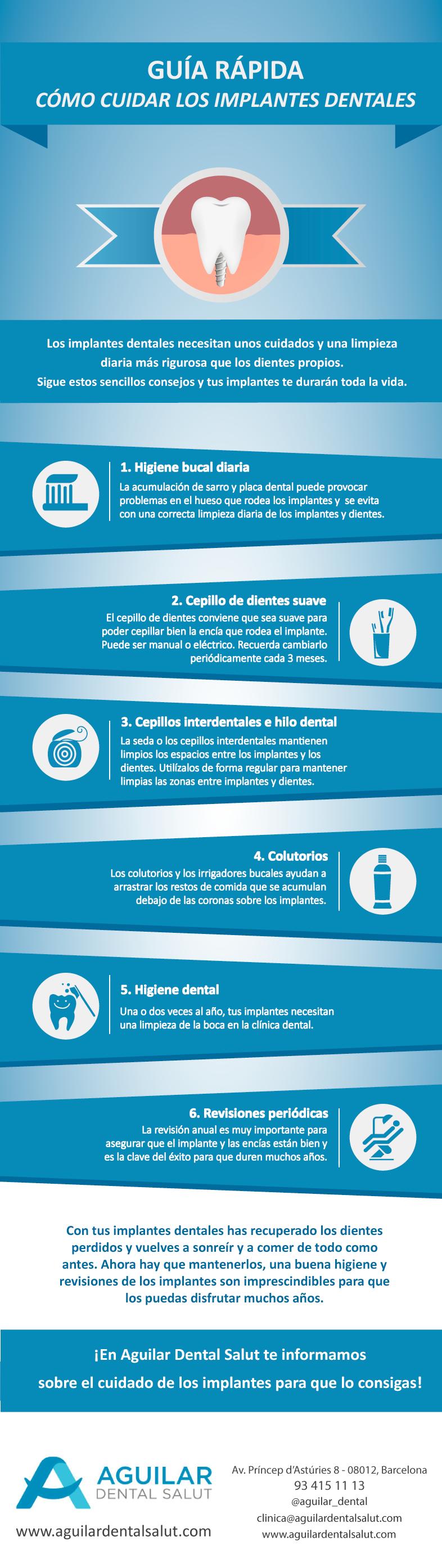 Guía rápida: cuidado de los implantes dentales